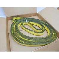 """Mazzella EN4-902 Edgeguard Nylon Web Sling, Endless, Yellow, 4 Ply, 13' x 2"""""""