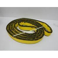 """Mazzella EN4-902 Edgeguard Nylon Web Sling, Endless, Yellow, 4 Ply, 7' x 2"""""""