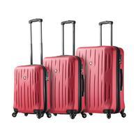 Mia Toro Italy M1212-PNK Fabbri Hardside Spinner 3pc Luggage Suitcase, Pink