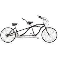 "Micargi ISLAND-BK 26"" Tandem 7 Speed Steel Frame 2 Seater Bicycle Bike, Black"