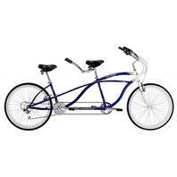 "Micargi ISLAND-BL 26"" Tandem 7 Speed Steel Frame 2 Seater Bicycle Bike, Blue"