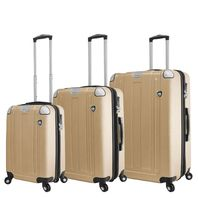 Mia Toro Italy M1303-CHA Acerra Hardside 3pc Spinner Luggage Suitcase, Champagne
