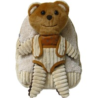 Kreative Kids 82023 Bear Plush Backpack w/ Removable 2 Face Stuffed Animal