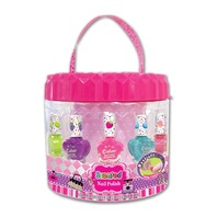 Hot Focus 041DV Scented Nail Polish & Stickers, File w/ Carry Bag