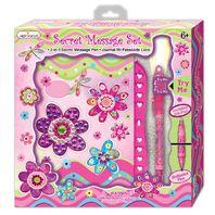 Hot Focus 203FM Secret Message Set, Journal w/ Passcode Lock, Flower Meadow