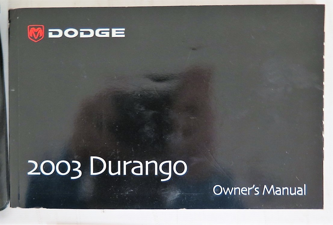 2003 dodge durango owners manual book bashful yak rh bashfulyak com dodge durango owners manual 2012 2005 Dodge Durango
