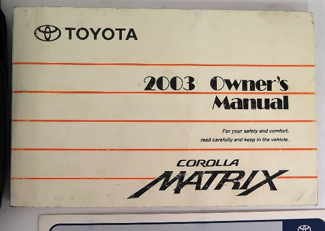 2003 toyota corolla matrix owners manual book ebay rh ebay com 2003 Toyota Matrix Maintenance Schedule Toyota Service