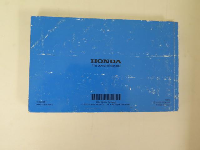 2004 honda odyssey owners manual book ebay rh ebay com Honda Odyssey Transmission Problems Honda Odyssey Transmission Problems