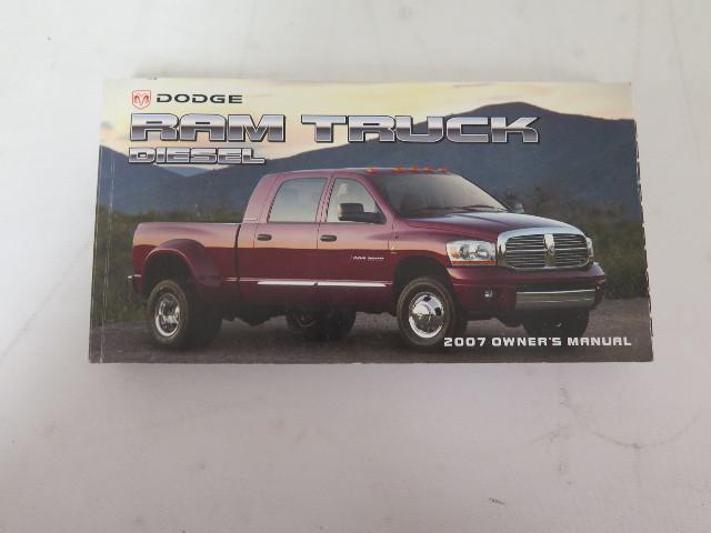 2007 dodge ram truck diesel owners manual book ebay rh ebay com 2005 dodge ram truck owners manual 2009 dodge ram truck owners manual