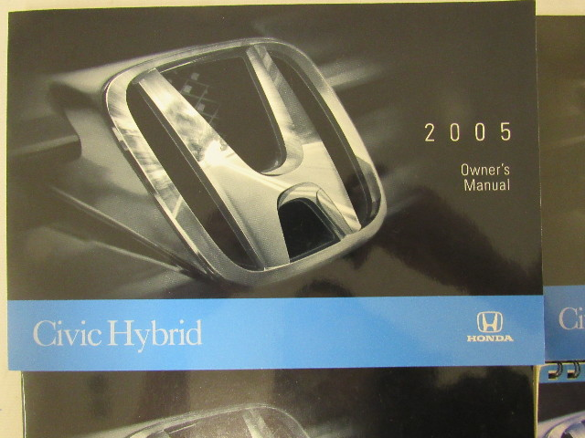 2005 honda civic hybrid owners manual book ebay rh ebay com 2005 Honda Civic Blue 2005 Honda Civic Si