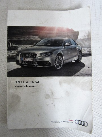 2012 audi s4 owners manual guide book ebay rh ebay com 2013 audi s4 owners manual 2012 audi s4 repair manual