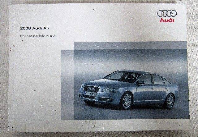 2008 audi a6 owners manual book ebay rh ebay com 2008 audi a6 quattro owners manual 2008 audi s6 repair manual