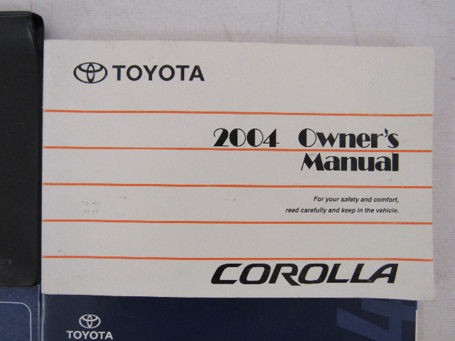 2004 toyota corolla owners manual book ebay rh ebay com 2004 toyota corolla owners manual free 2014 toyota corolla owners manual pdf