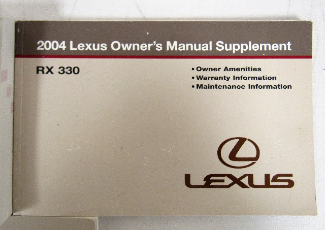 2004 lexus rx 330 owners manual book ebay rh ebay com lexus rx 350 user manual 2015 lexus rx 330 user manual