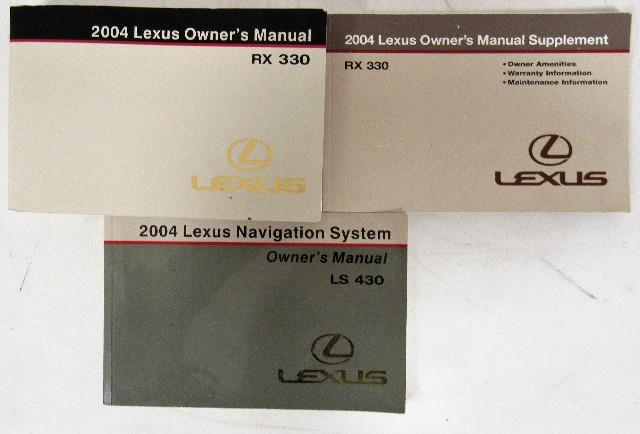 2004 lexus rx 330 owners manual book ebay rh ebay com lexus rx330 owners manual lexus rx 330 user manual