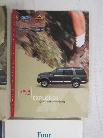 2004 explorer owners manual