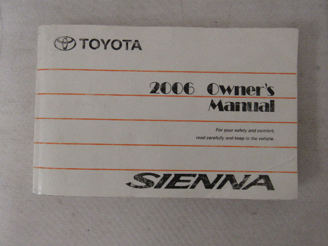 2006 toyota sienna owners manual book water damaged ebay rh ebay com toyota avalon 2006 owners manual toyota 2006 owners manual