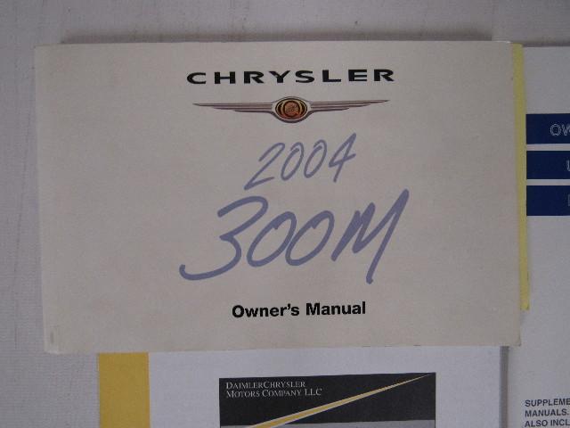 2004 chrysler 300m owners manual