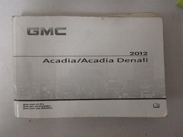 2012 gmc acadia acadia denali owners manual book water damaged rh ebay com 2013 gmc acadia manual 2012 gmc acadia denali manual