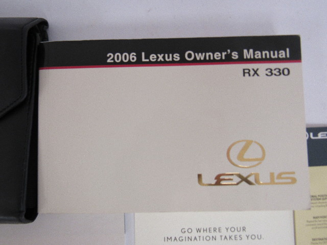 2006 lexus rx330 owners manual book ebay rh ebay com 2005 Lexus RX 330 2006 Lexus IS350