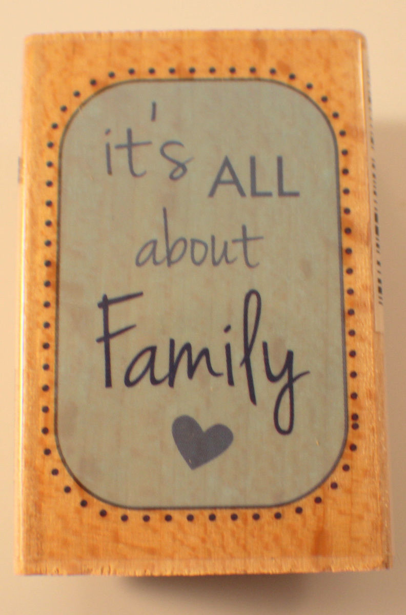 it s all about family words writing quote studio g wooden rubber