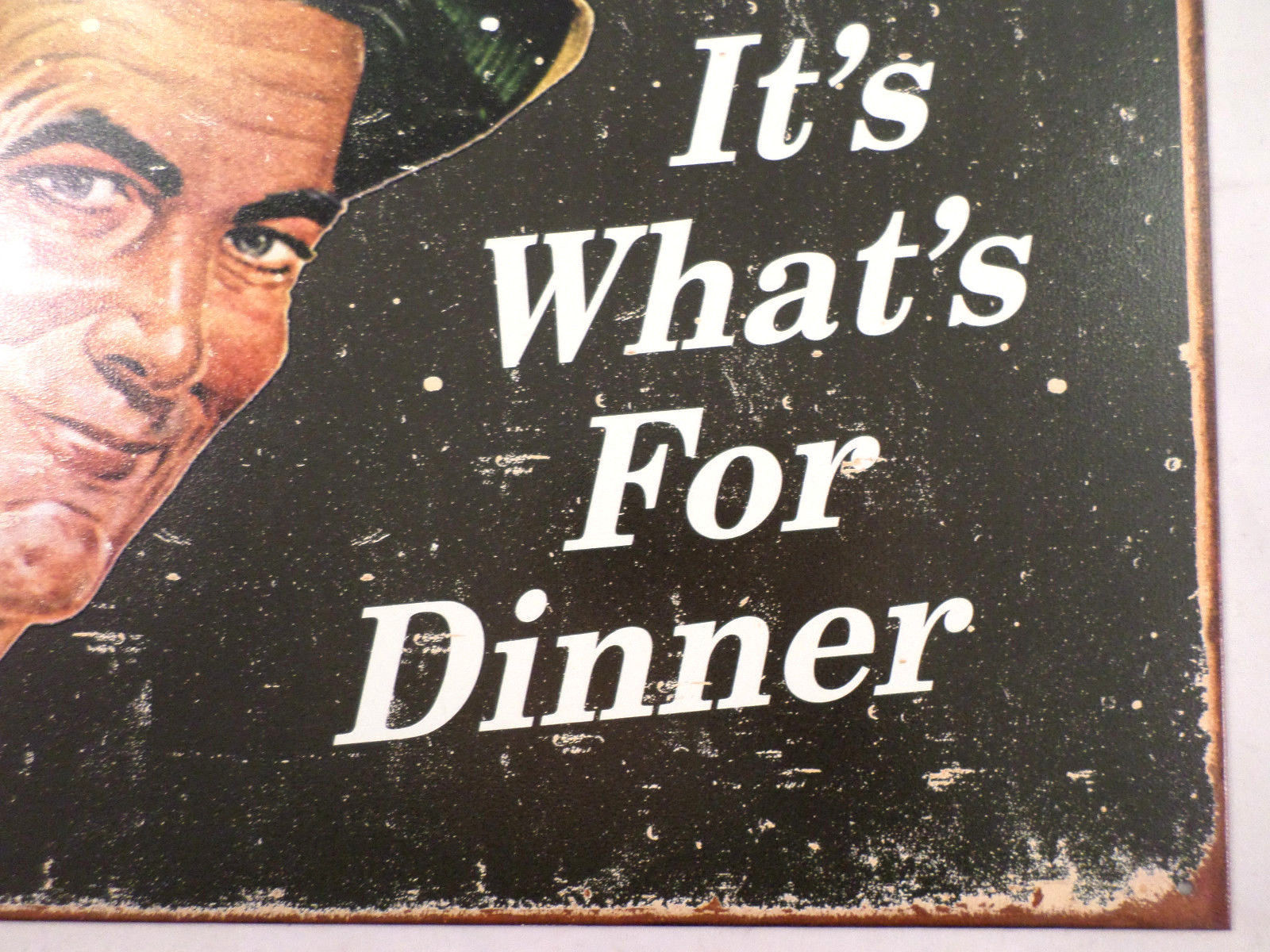It/'s What/'s For Dinner Beer Tin Sign