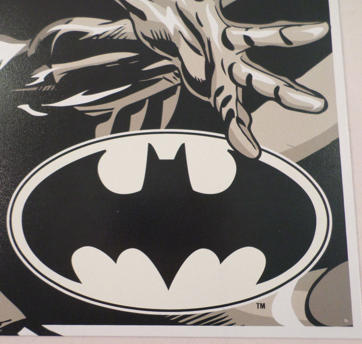 Batman duotone black and white 12 5 x 16 comic book tin sign dc comics