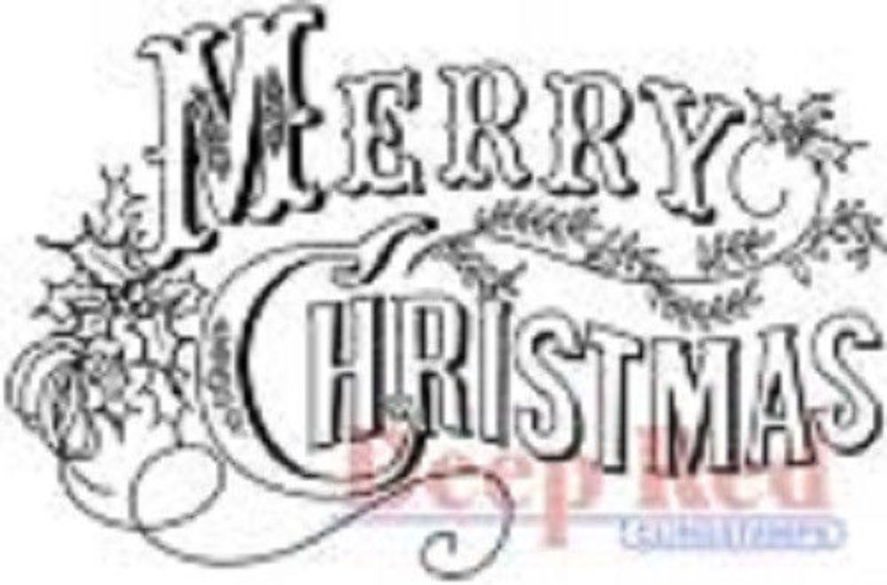 Merry Christmas Writing.Details About Deep Red Rubber Cling Stamp Vintage Merry Christmas Writing Words