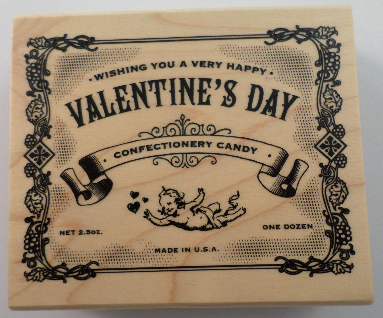 Inkadinkadio Happy Valentine S Day Vintage Candy Wrapper Wooden