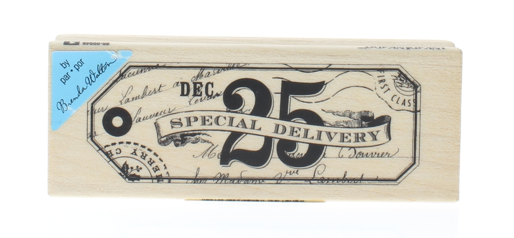 Inkadinkado Christmas Special Delivery Dec 25th Gift Tag Wooden