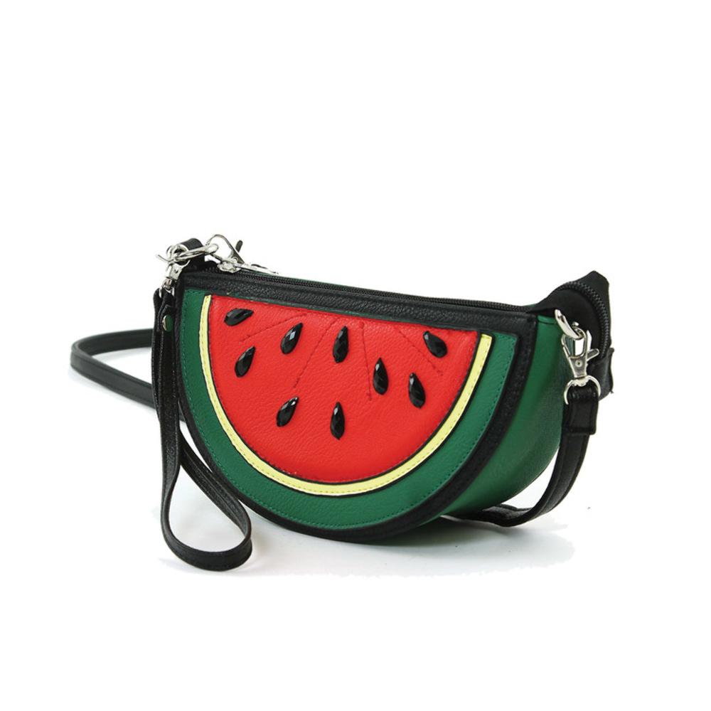 Watermelon slice shoulder bag