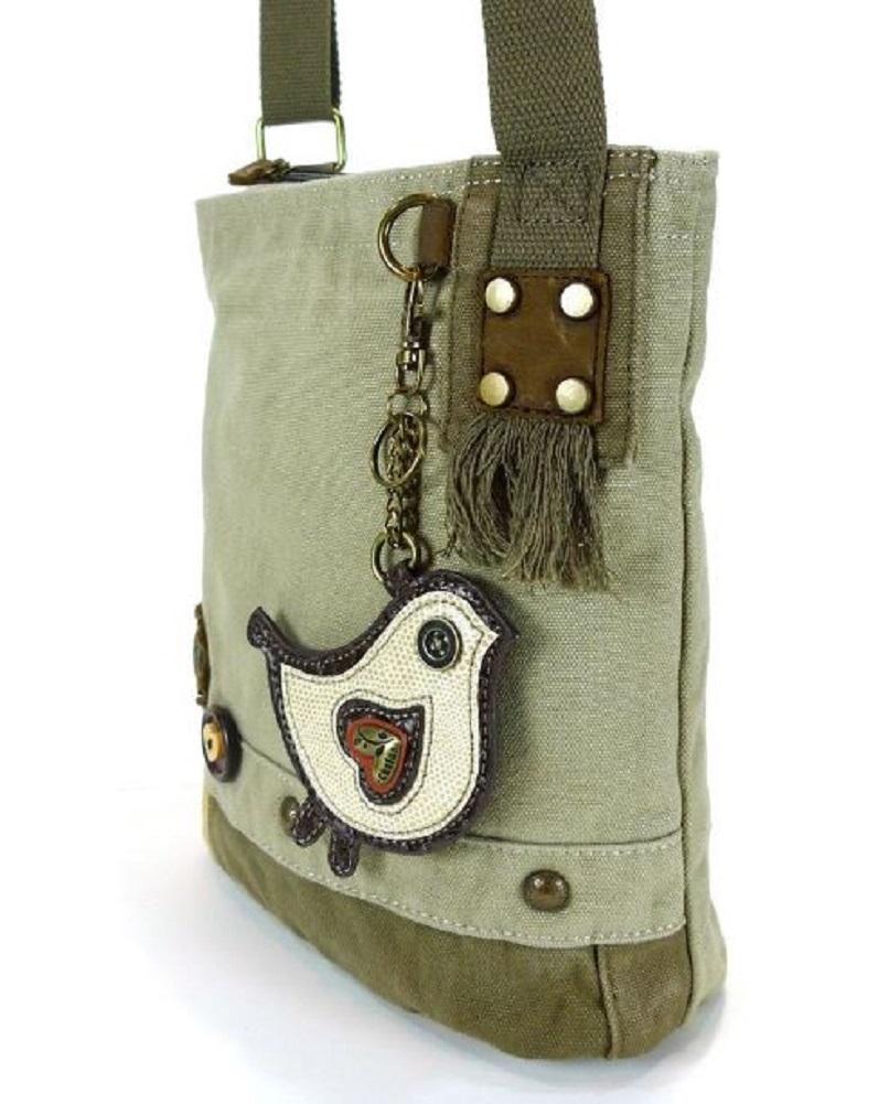 ... Chala Purse Handbag Canvas Crossbody with Key Chain Tote Bag Biddle Bird  ... a9a6ca5906897