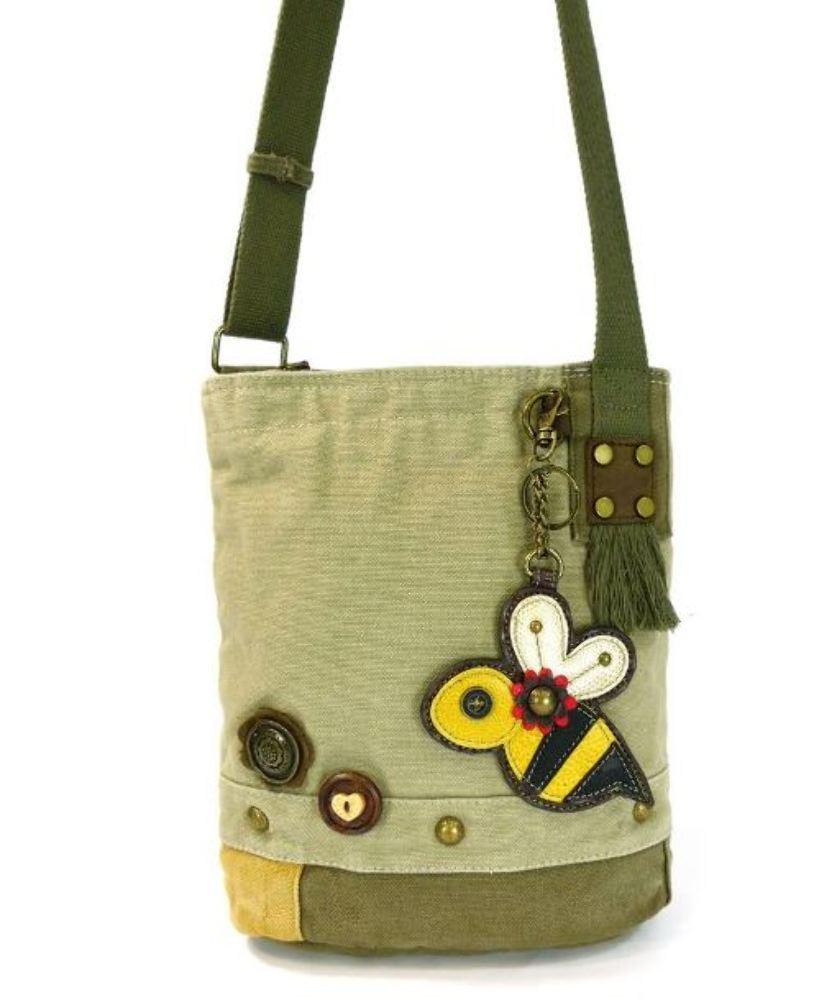 e2cecb3e3 Chala Purse Handbag Canvas Crossbody with Key Chain Tote Bag Bumble Bee · «