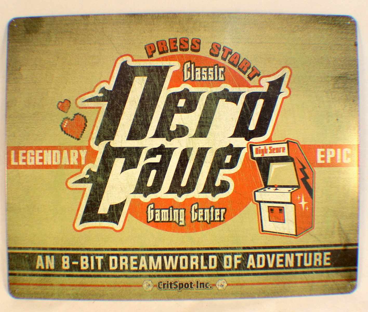 Nerd Cave Video Game Player Funny Retro Metal Tin Sign New