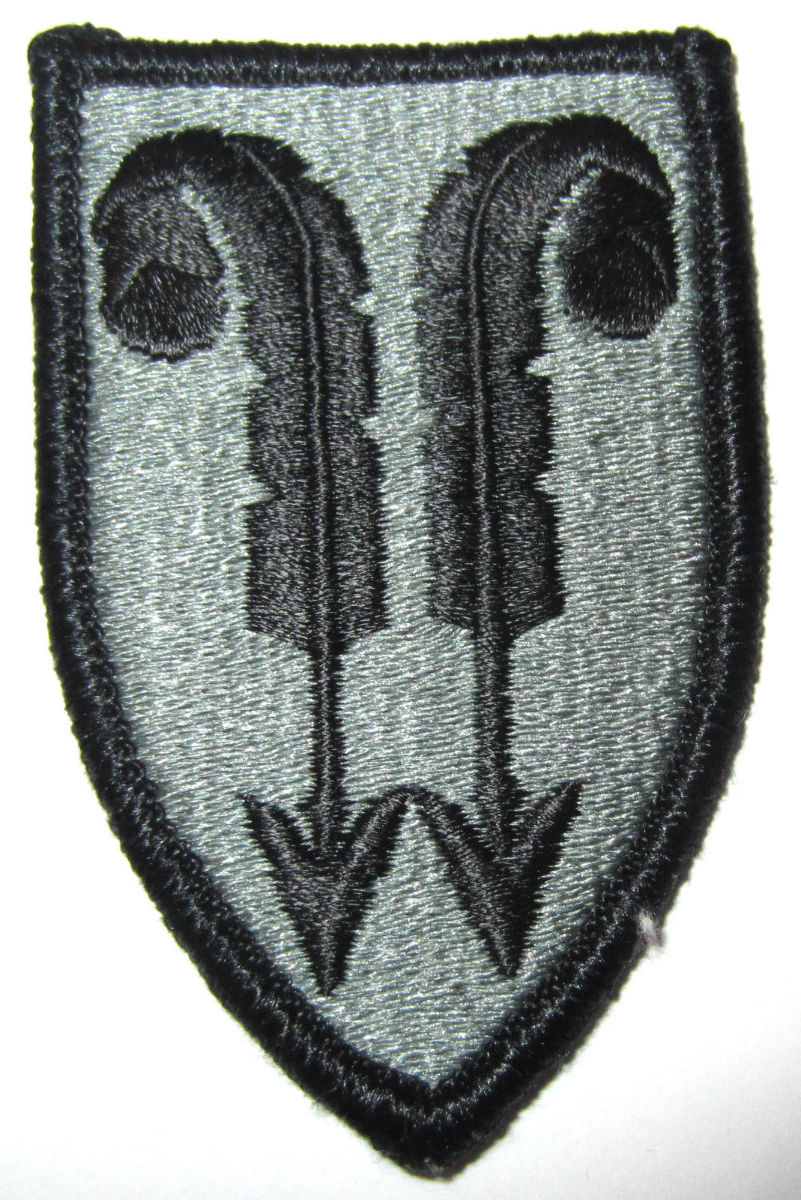 Us Army Subdued Military Patch Feather Arrow With Quill Feathers