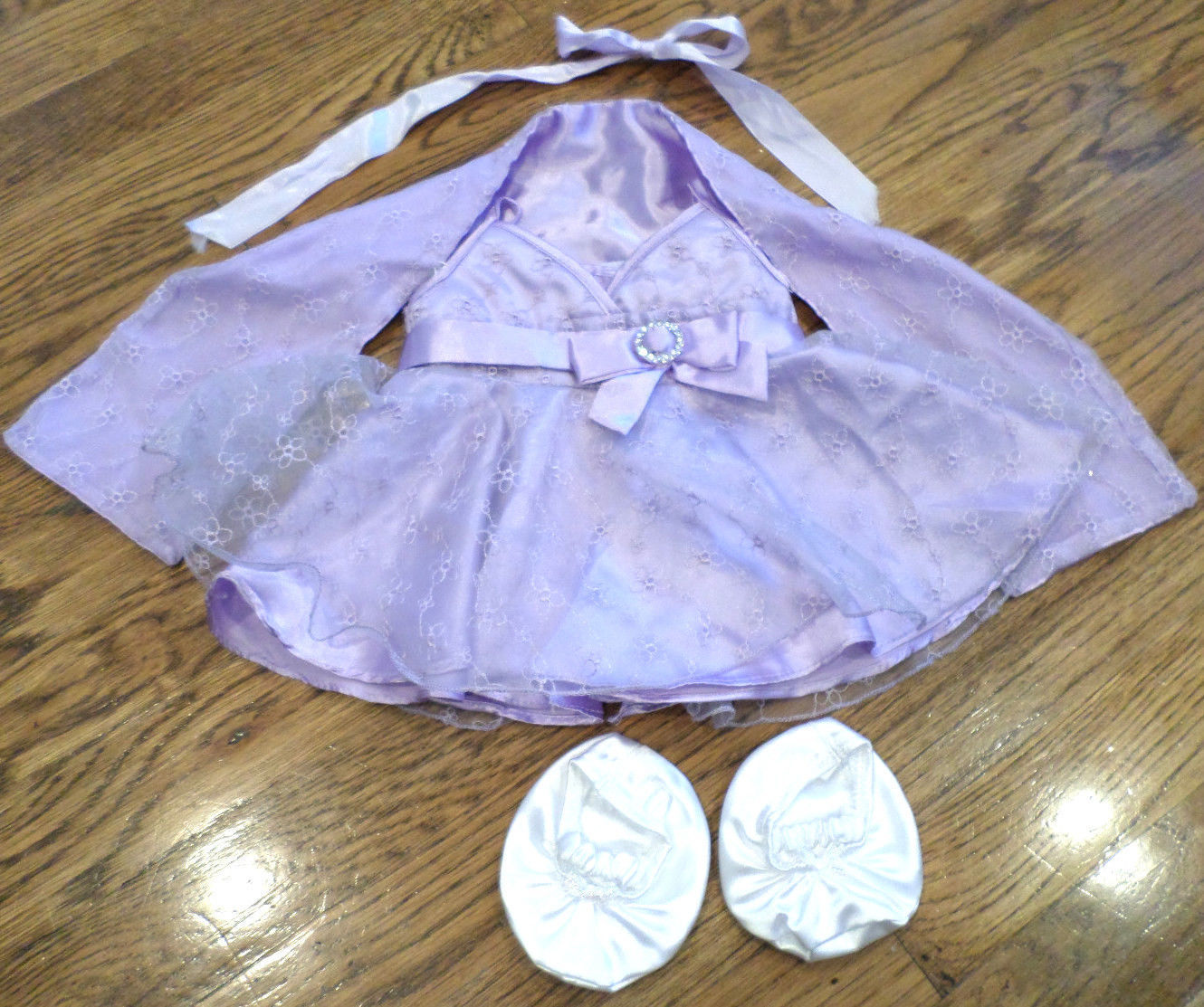 Build a Bear Outfit Set Fancy Ball Gown Dress with Shaw & White ...