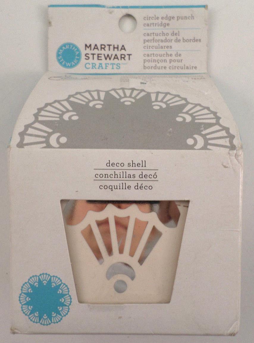 Craft Paper Punch Martha Stewart Scrapbooking Deco Shell Circle