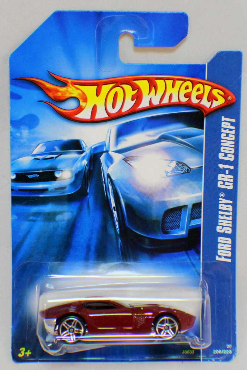 Hot Wheels Ford Shelby Gr 1 Concept Car Marroon Red Dragonfly Whispers