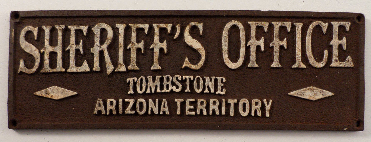 Sheriffu0027S Office Tombstone Arizona Territory Sign Plaque Western Inspired