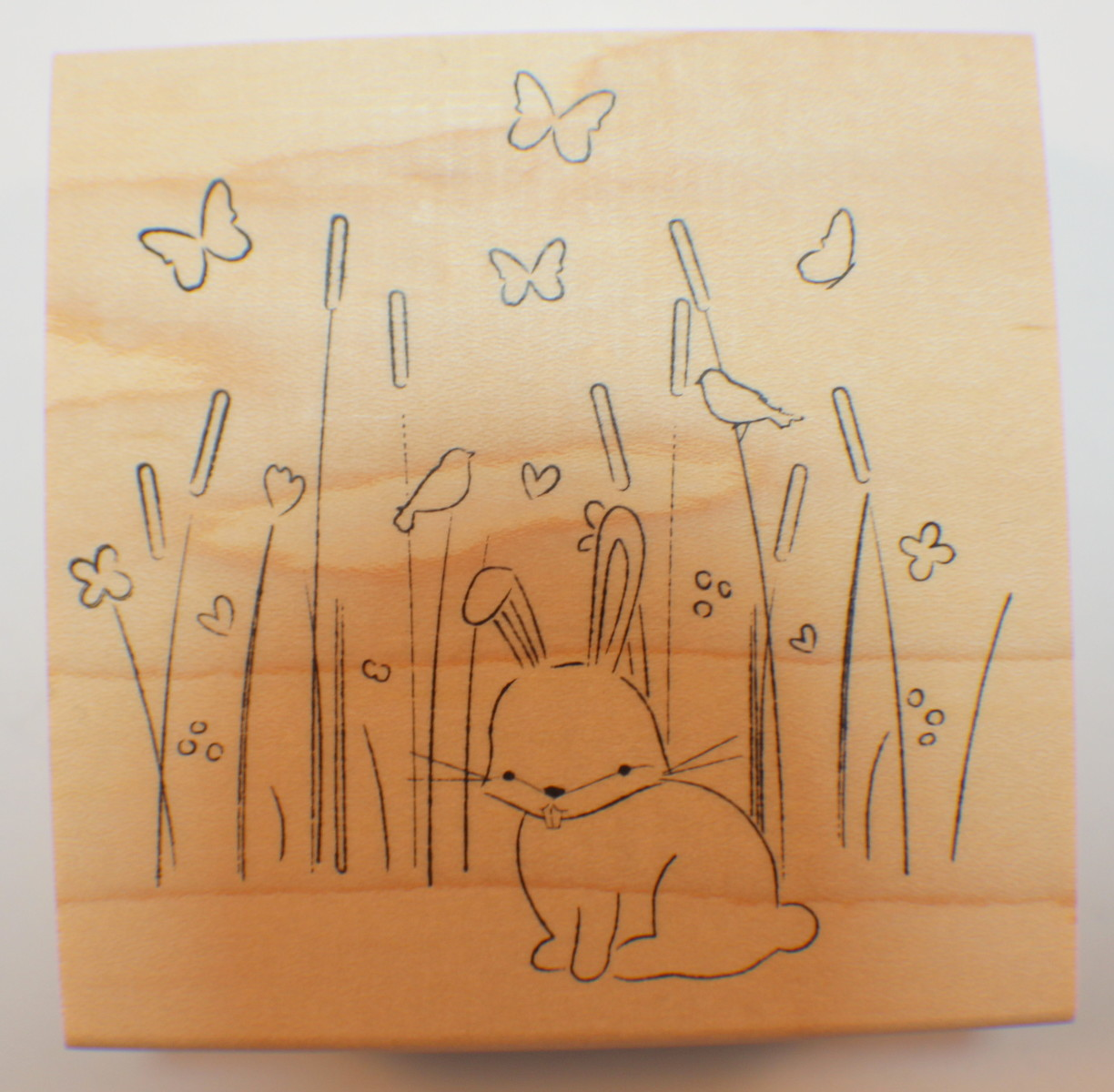 Memory Box Max Bunny in the Meadow wood mounted stamp