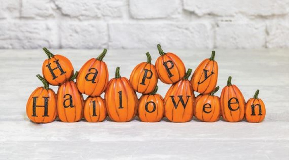 Happy Halloween Holiday Tabletop Pumpkin Decor Decoration