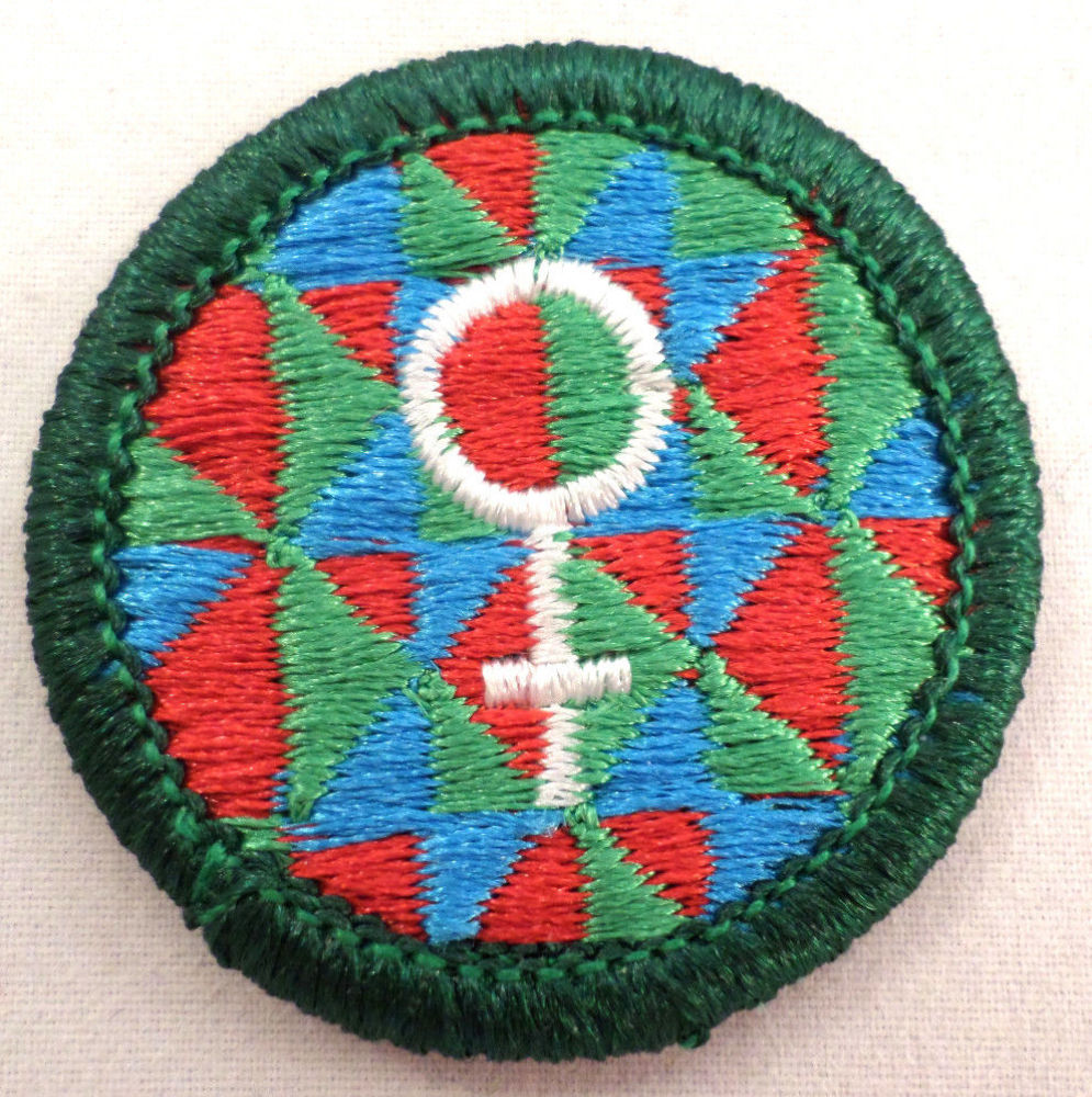 Retired Girl Scout Junior Womens Stories Badge Patch New History