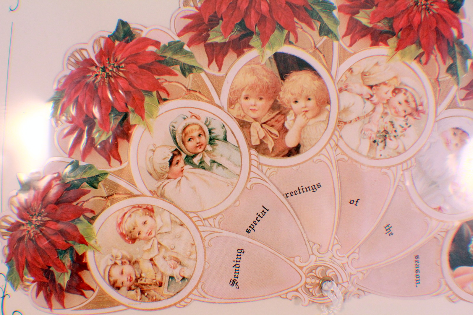 Vintage inspired victorian fan greeting card old print factory vintage inspired victorian fan greeting card old print factory poinsettia kids m4hsunfo