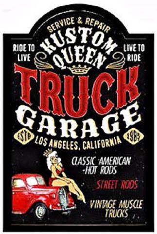 Truck Garage Service & Repair Classic American Hot Rods 3D Pub Wall Sign