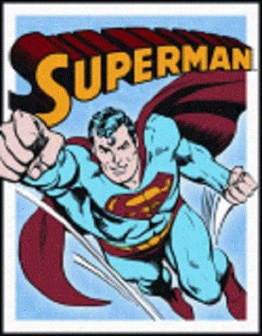 "Superman Retro Panels Flying 12.5"" X 16"" Comic Book Tin Sign Dc Comics #1402"