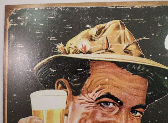 BEER IT/'S WHAT/'S FOR DINNER Retro Style Fishing Tavern Lodge Bar Sign Decor