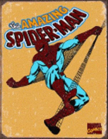 "Amazing Spider-Man Retro 12.5"" X 16"" Comic Book Tin Sign Marvel Comics #1437"