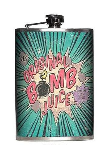 Totally Rad Original Bomb Juice Stainless Steel 8 Oz Flask 680041557291 Ebay