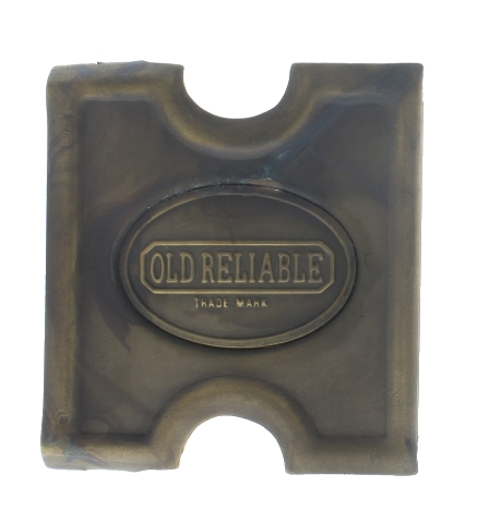 Anson Mills Belt Buckle Old Reliable Solid Brass Reenactments