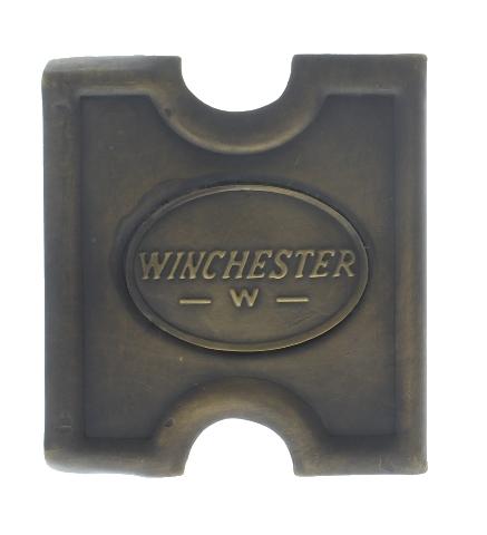 Anson Mills Belt Buckle Winchester Dog Solid Brass Reenactments